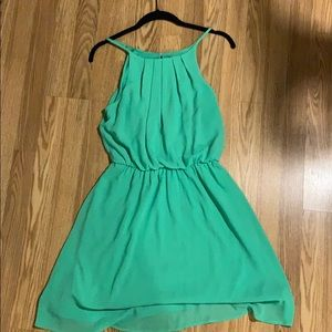 Green Cinch-Waist Dress
